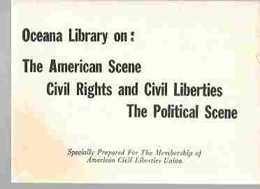 Image for Publications on the American Scene; Civil Rights and Civil Liberties; the Political Scene